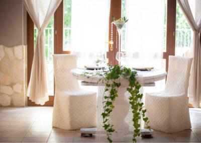 Agriturismo Ristorante tavolo per 2 decoratoTenuta Marchesi Fezia