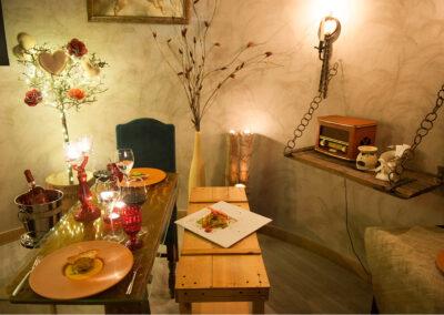 Cena a lume di candela dettaglio Io & Te piccolissimo ristorante