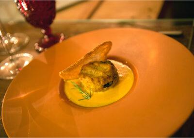 Cena a lume di candela piatto con vellutataIo Io & Te piccolissimo ristorante