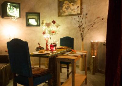 Cena a lume di candela visuale Io & Te piccolissimo ristorante