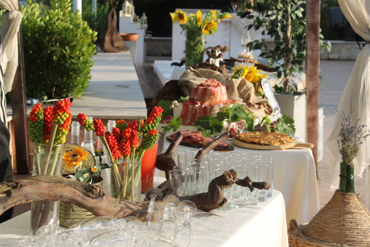 Location matrimonio Umbria antipasto Tenuta Marchesi Fezia