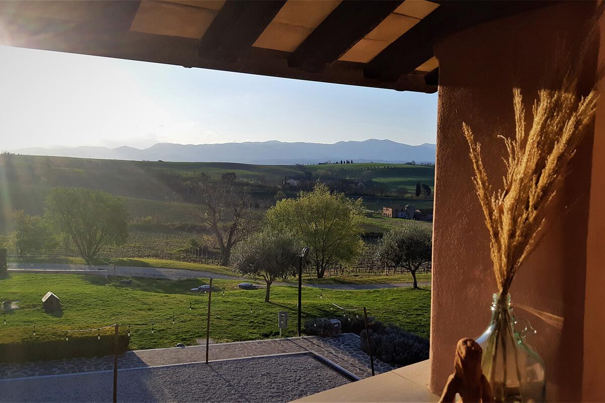 Vacanze in Umbria vista Tenuta Marchesi Fezia