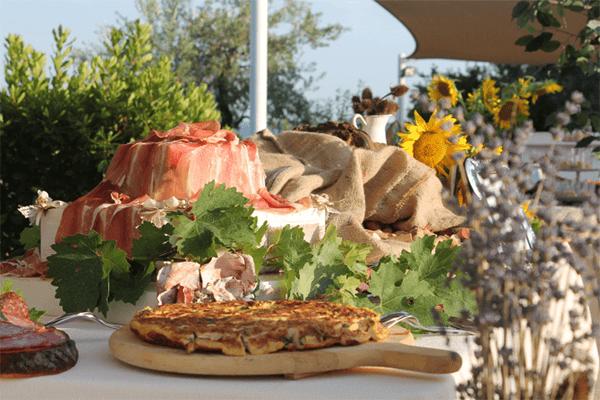 Matrimonio buffet Tenuta Marchesi Fezia