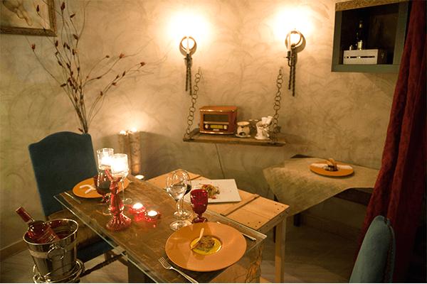 io e te piccolissimo ristorante cena lume di candela